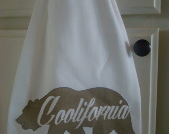 Tea  towel - California bear - Coolifornia kitchen flour sack towel