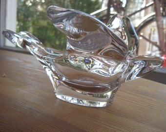 Vintage French Crystal THE PRINCESS HOUSE Bird Spoon Holder