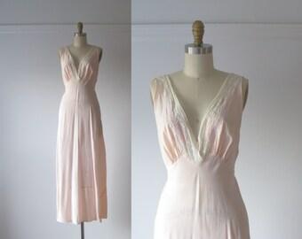 vintage 1940s nightgown / 40s lingerie
