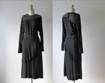 vintage 1940s dress / 40s dress / Femme Mystique