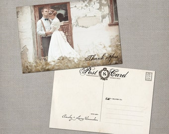 """Vintage Wedding Thank You Cards / Wedding thank yous / Wedding Thank You Cards / Thank you Cards / Thank you card - the """"Ainsley 5"""""""
