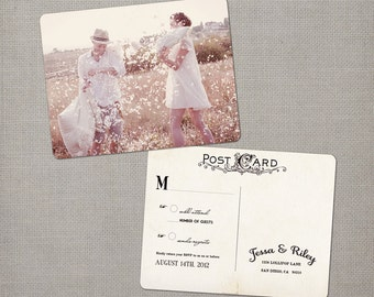 "Rsvp postcard / Rsvp postcards / Rustic wedding rsvp / Wedding rsvp card / Rsvp / Response card / Reply cards / Rsvp card - the ""Jessa"""