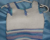 Sweater Vest - Hand crocheted 3-6 mos.