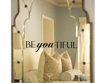Beyoutiful schöne Spiegel Aufkleber
