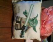 Yoda  Star Wars Childs Boys Decorative Pillow Room