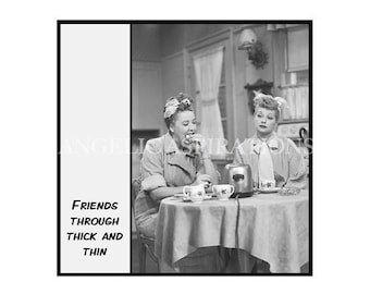 Magnet - Friends through thick and thin - Lucy and Ethel
