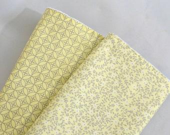 Baby Girl Burp Cloth - Baby Girl Gift - Vintage Yellow and Gray