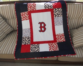 Customized Baseball Baby Quilt