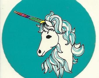 Vintage 80's RPP Unicorn Sticker