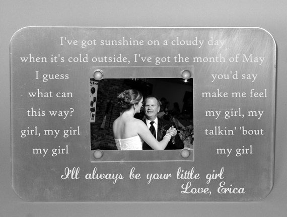 Engraved Father Daughter Dance Picture Frame Metal Custom