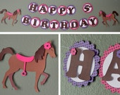 Pony Birthday Banner, Party Decoration,  Horse Decor - CUSTOM Message