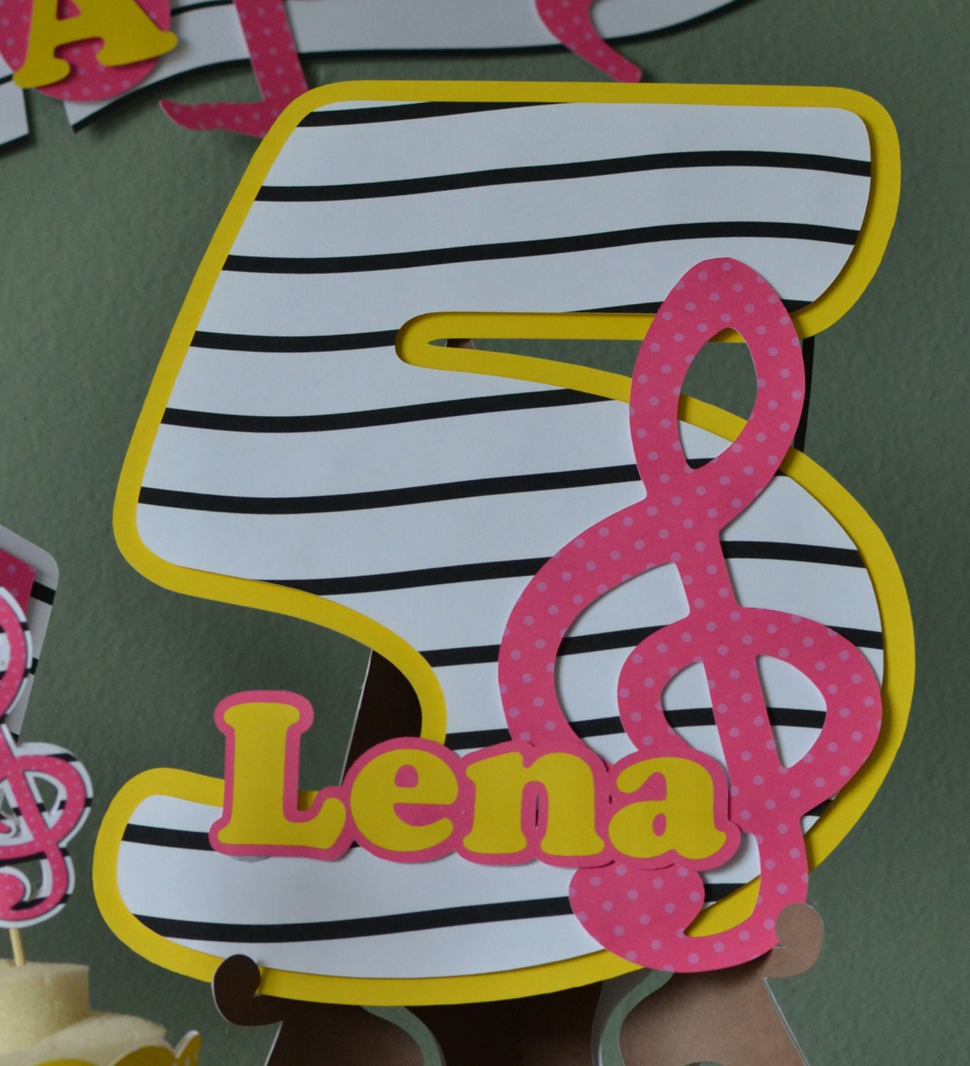 Music Birthday Party Door Sign Party Decoration CUSTOM