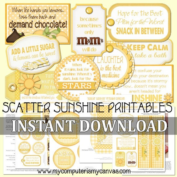 Delicate image in box of sunshine printable