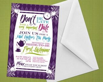 Invitations - Wonderland - DIY Printable