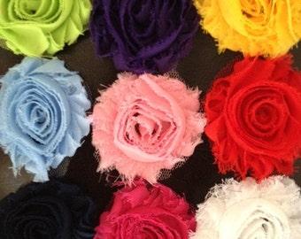 Shabby Chic flower hair clips, Toddler hair clips, flower hair clip, hair accessories
