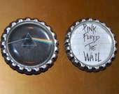 Pink Floyd flattened bottle cap magnet set