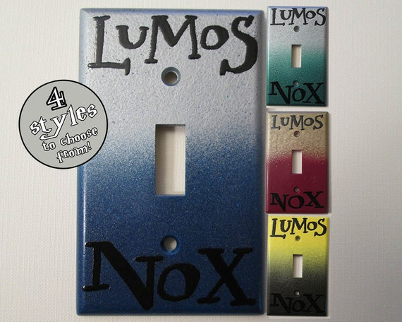 LAST CHANCE!!! Lumos Nox House Colors Standard Light Switch Plate - DeeplyDapper Spells