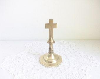 Gold Brass Cross //