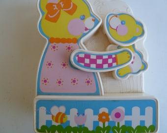 Rare Animated Bear Musical Crib Toy