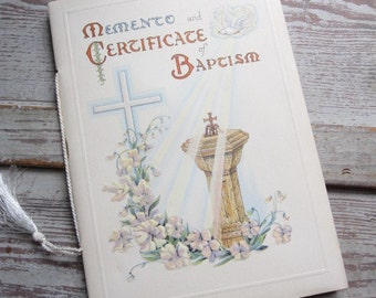 Memento and Certificate of Baptism