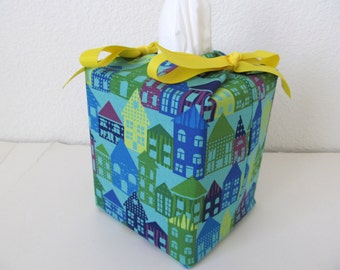 Tissue Box Cover/House With Yellow Ribbon