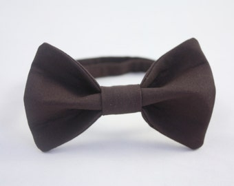 Brown Clip-on Bow tie - Infant, Toddler, Boys