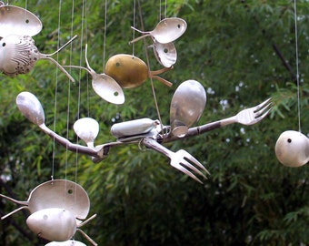 Beneath The Sea, Scuba Diver & Spoon Fish Wind Chime,under The Sea Theme, Swimming Swimmer, Diving Instructor, Diving Photography, Deep Sea