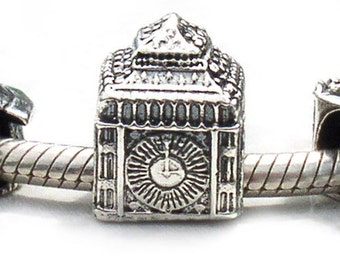 Big Ben Clock Landmark Bead Sterling Silver LM076