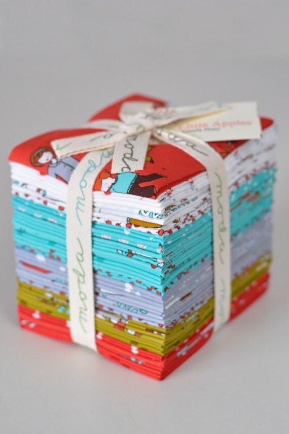 LAST Moda Aneela Hoey Little Apples COMPLETE 32 Fat Quarter FQ Bundle