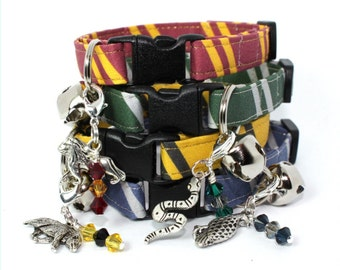 Wizard Breakaway Cat Collar with House Charm