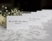 Wedding placecard, rectangle placecard, Tented placecard, Escort Card, Custom Sample, Classic style placecard, Traditional place card