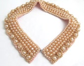 pale PINK shimmery round PEARL satin Truly Regal Art CRAFT lovely collar