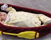 Baby CANOE / PADDLE Knitting Pattern  -  PDF