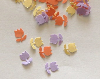 Flower Confetti Pastel Orange Lavender Yellow 450 Pieces