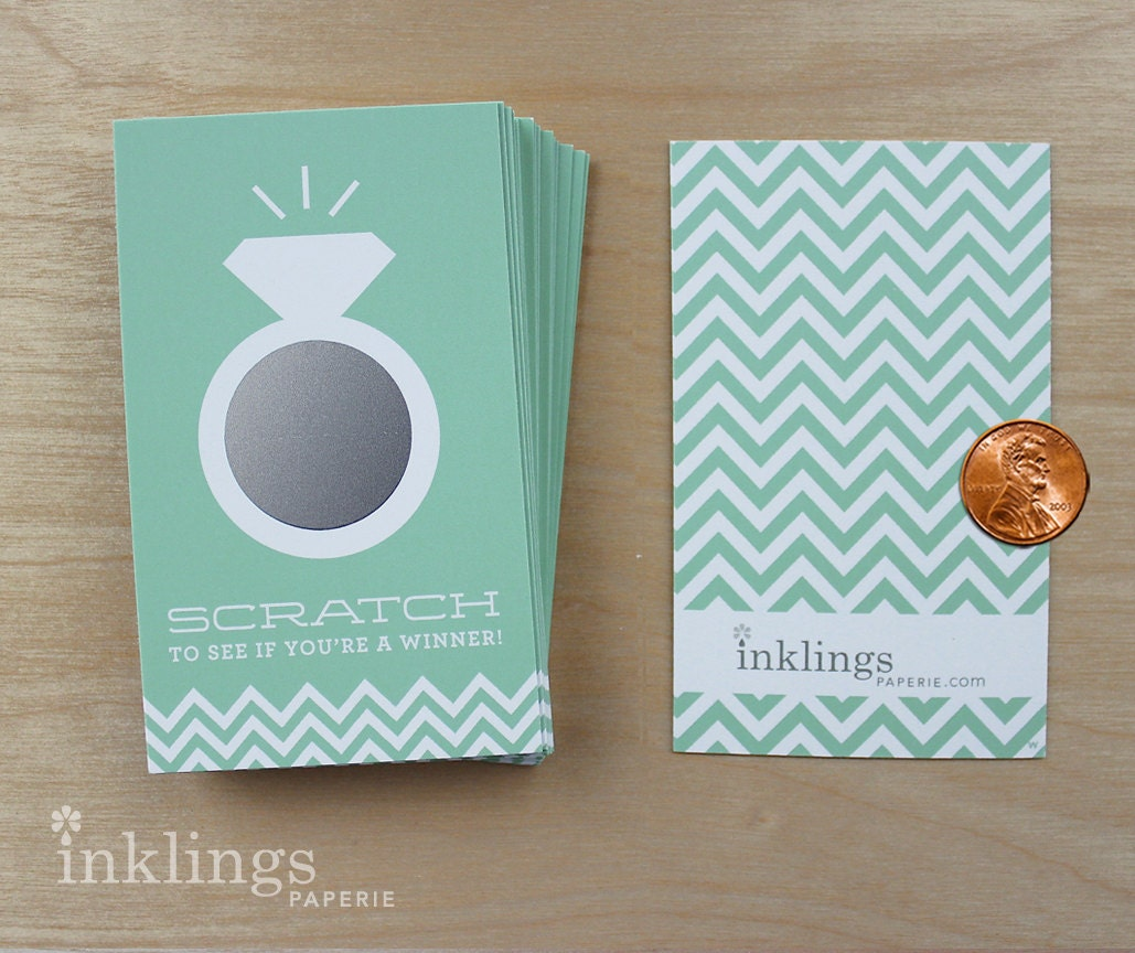 24 Scratch Off Cards For Bridal Shower Game // By