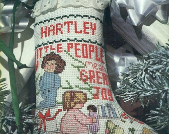 CABBAGE PATCH KIDS Counted Cross Stitch Christmas Stocking & Designs Pattern Plaid #7677 Book 1983