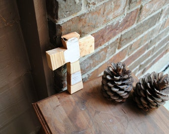 "Reclaimed Wood Cross - ""Pieces"""