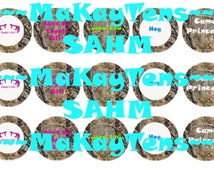 """Instant download Pink Camo Bottle cap Images 1"""" Antlers Duck Dynasty sayings girl John 3:16"""