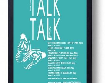 Talk Talk Framed Gig Poster Print