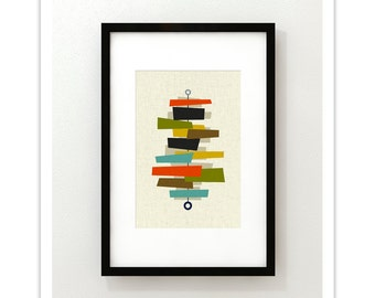 FOUNDATION - Mid Century Modern Danish Modern Abstract Eames Curtis Jere Print