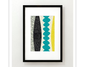 CHRYSALIS no.48 - Giclee Print - Mid Century Modern Modernist Abstract Eames