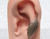 Filigree Leaf Ear Cuff ' left side '
