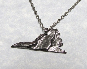 Virginia State Necklace with Geological Design