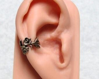 Forest Leaf Spray Ear Cuff