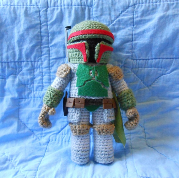 Amigurumi Free Pattern Dinosaur : Star Wars Boba Fett Amigurumi Crochet Doll by WhatnotsbyLori