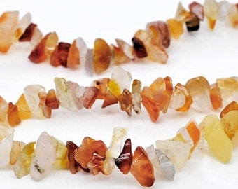Red Agate Gemstone Nuggets 1 Strand 5mm-10mm - BD089