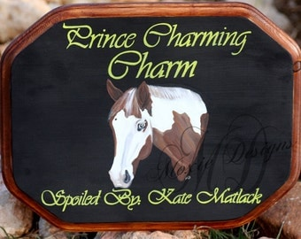 Custom Hand Painted Horse stall Sign