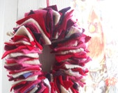Give Me a Second Chance Wreath: Valentine's Day Wreath made from Felted Wool Sweaters, Candle Wreath, Made to Order