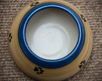 ADVANCE ORDER: Two Tone Ear Bowl with Paws (Small/Medium)