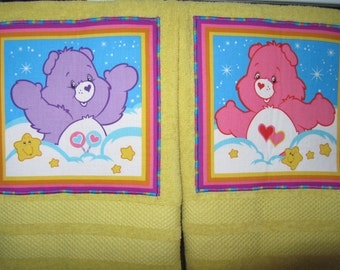 CARE BEARS Dish Towels Hand Towels FUN Kitchen Towels Sweet Gift